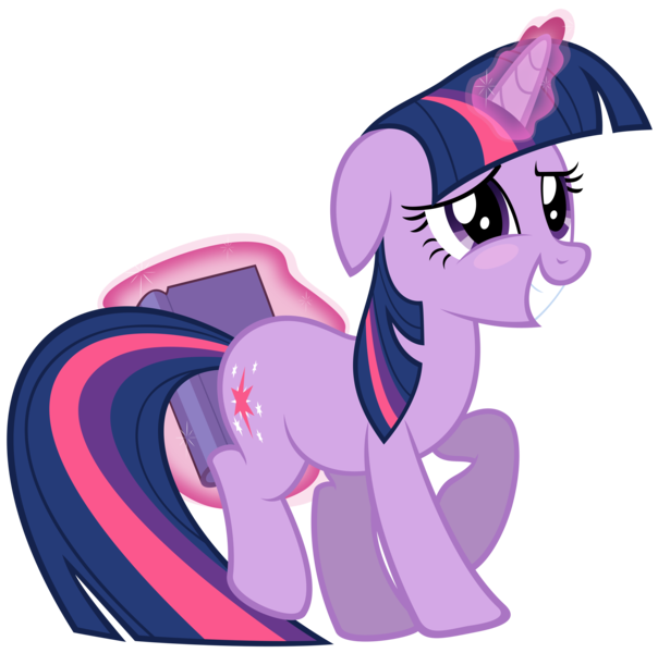 Size: 5841x5807 | Tagged: absurd resolution, artist:dentist73548, blushing, book, derpibooru import, hiding, secret of my excess, simple background, solo, suggestive, that pony sure does love books, transparent background, twilight sparkle, unicorn, unicorn twilight, vector