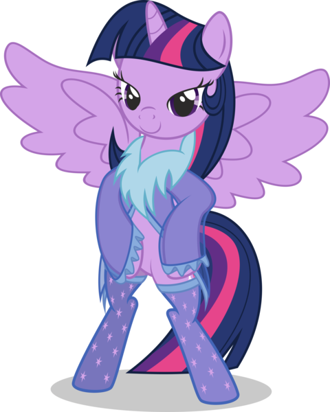 Size: 3200x4000   Tagged: alicorn, artist:leopurofriki, bedroom eyes, bipedal, clothes, derpibooru import, female, mare, nightgown, pony, simple background, socks, solo, solo female, stockings, suggestive, .svg available, transparent background, twilight sparkle, twilight sparkle (alicorn), vector