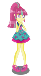 Size: 358x652   Tagged: artist:dashapower, clothes, cute, derpibooru import, dress, equestria girls, legs, safe, solo, sourbetes, sour sweet