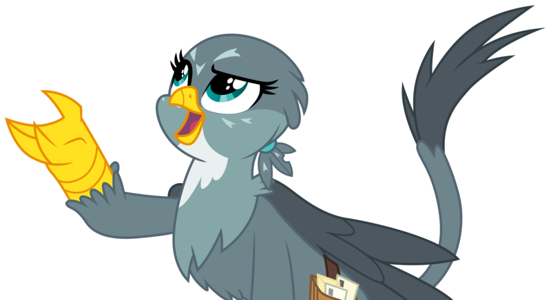 Size: 5667x3086 | Tagged: safe, artist:cloudyglow, derpibooru import, gabby, griffin, the fault in our cutie marks, absurd resolution, .ai available, simple background, solo, transparent background, vector