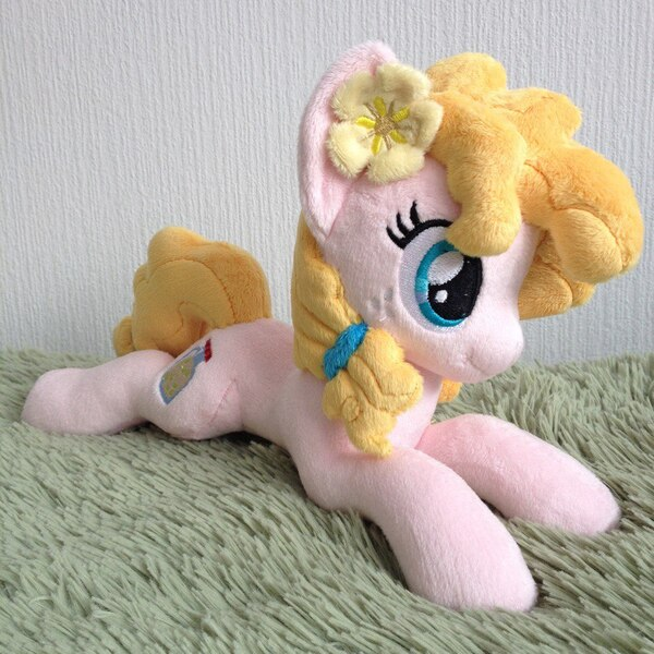 Size: 960x960   Tagged: artist:burgunzik, derpibooru import, irl, pear butter, photo, plushie, pony, prone, safe, solo, the perfect pear