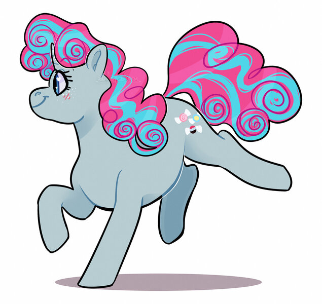 Size: 1600x1511 | Tagged: safe, artist:whisperseas, derpibooru import, oc, oc:taffy twirl, unofficial characters only, unicorn, female, mare, offspring, parent:party favor, parent:pinkie pie, parents:partypie, simple background, solo, white background