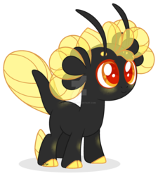 Size: 1600x1778 | Tagged: safe, artist:dianamur, derpibooru import, oc, unofficial characters only, original species, pony, deviantart watermark, female, obtrusive watermark, simple background, solo, starry eyes, transparent background, watermark, wingding eyes