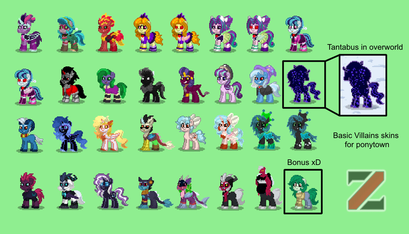 Size: 1400x800 | Tagged: safe, artist:zethbsoul, derpibooru import, adagio dazzle, ahuizotl, aria blaze, cosmos (character), cozy glow, daybreaker, discord, gloriosa daisy, grogar, king sombra, lord tirek, mane-iac, nightmare moon, nightmare rarity, pony of shadows, queen chrysalis, sci-twi, sonata dusk, sphinx (character), starlight glimmer, storm king, sunset shimmer, tantabus, tempest shadow, trixie, twilight sparkle, wallflower blush, ponified, alicorn, pony, sphinx, pony town, equestria girls, my little pony: the movie, the ending of the end, adoragio, ahuidorable, alicornified, antagonist, ariabetes, clothes, cozybetes, cozycorn, cute, cutealis, cute-iac, daisybetes, diabreaker, discute, flowerbetes, giant demon alicorn cozy glow, green background, hat, midnightabetes, midnight sparkle, moonabetes, nightmare raribetes, race swap, shadorable, simple background, sombradorable, sonatabetes, sphinxdorable, stormabetes, sunset satan, tempestbetes, the dazzlings, tirebetes, trixie's hat, twiabetes, ultimate chrysalis, villains of equestria, wall of tags
