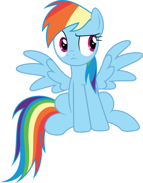 Size: 3000x3843   Tagged: artist:dashiesparkle, daring done?, derpibooru import, female, high res, mare, pegasus, pony, rainbow dash, safe, simple background, sitting, solo, .svg available, transparent background, vector