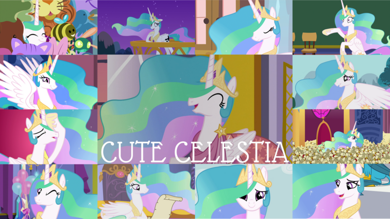 Size: 1280x720 | Tagged: safe, derpibooru import, edit, edited screencap, editor:quoterific, screencap, princess celestia, alicorn, pony, a royal problem, between dark and dawn, celestial advice, horse play, season 7, season 8, season 9, spoiler:s08, spoiler:s09, cute, cutelestia, hair over one eye, image, night, png, solo, swapped cutie marks