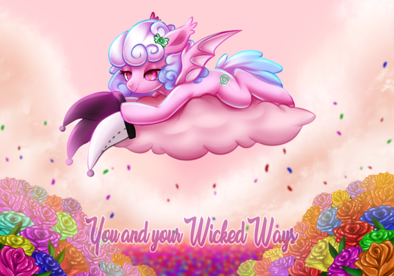 Size: 900x631   Tagged: safe, artist:cabbage-arts, derpibooru import, oc, oc:haiky haiku, bat pony, admiration, cute, hat, image, in love, png, solo