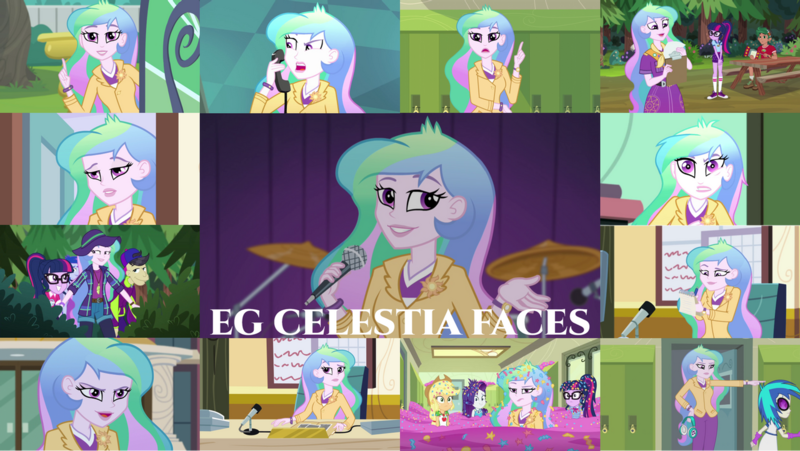 Size: 1280x722   Tagged: safe, derpibooru import, edit, edited screencap, editor:quoterific, screencap, applejack, cranky doodle donkey, princess celestia, princess luna, rarity, sci-twi, timber spruce, twilight sparkle, vinyl scratch, best trends forever, eqg summertime shorts, equestria girls, equestria girls (movie), equestria girls series, friendship games, legend of everfree, music to my ears, my little shop of horrors, rainbow rocks, schedule swap, subs rock, the road less scheduled, the road less scheduled: celestia, spoiler:eqg series (season 2), applejack's hat, best trends forever: pinkie pie, bowtie, celestia is not amused, clipboard, clothes, confetti, cowboy hat, cute, cutelestia, cutie mark, cutie mark on clothes, drums, female, geode of shielding, geode of super strength, geode of telekinesis, glasses, hallway, hat, image, jewelry, lockers, magical geodes, male, messy hair, microphone, microphone stand, musical instrument, necklace, open mouth, png, ponytail, principal celestia, rarity peplum dress, unamused, vice principal luna