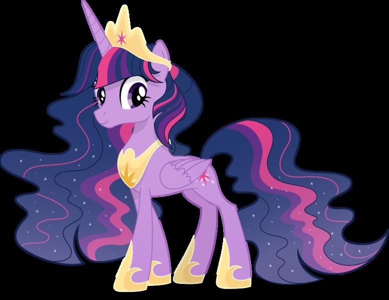 Size: 6255x4839 | Tagged: safe, artist:pumpkinpieforlife, derpibooru import, twilight sparkle, twilight sparkle (alicorn), alicorn, pony, the last problem, alternate hairstyle, crown, ethereal mane, eyelashes, female, hoof shoes, image, jewelry, mare, older, older twilight, peytral, png, princess twilight 2.0, regalia, simple background, solo, solo female, starry mane, transparent background, vector