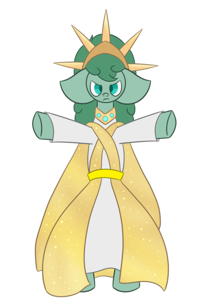 Size: 1399x1999   Tagged: safe, artist:derpy_the_duck, derpibooru import, oc, oc:the mother, earth pony, arms in the air, bipedal, cape, clothes, crown, goddess, image, jewelry, png, regalia, solo