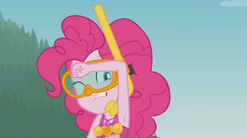 Size: 3410x1920   Tagged: safe, derpibooru import, screencap, pinkie pie, equestria girls, equestria girls series, unsolved selfie mysteries, armpits, clothes, diving goggles, female, geode of sugar bombs, goggles, high res, image, jewelry, jpeg, magical geodes, musical instrument, necklace, one eye closed, one-piece swimsuit, snorkel, solo, swimsuit